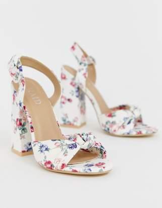 Raid RAID Malory printed floral block heeled sandals