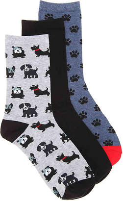 Kelly & Katie Dog Crew Socks - 3 Pack - Women's