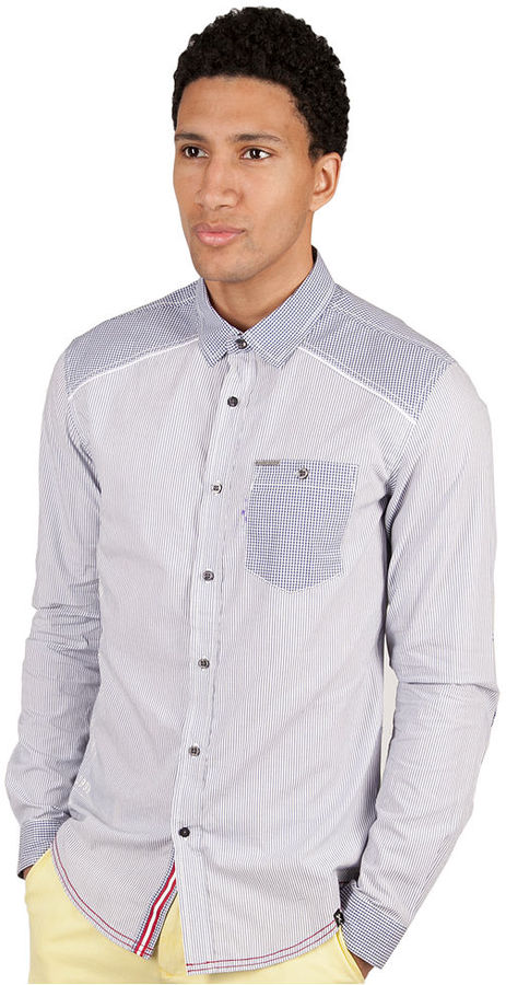 Ecko Unlimited Shirt, Long Sleeve Slim-Fit Freedom Fighter Stripe