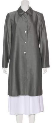 Ellen Tracy Linda Allard Knee-Length Button-Up Coat