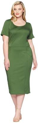 Unique Vintage Plus Size Mod Wiggle Dress Women's Dress
