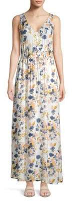 Lucky Brand Tie-Waist Floral Maxi Dress