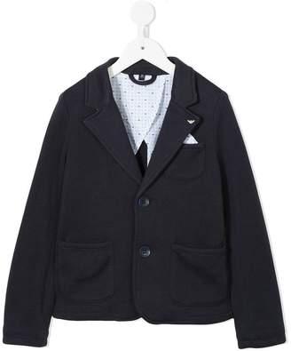 Emporio Armani Kids patch pockets blazer