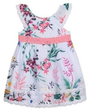 Laura Ashley Little Girl's Floral Eyelet-Trimmed Cotton Dress
