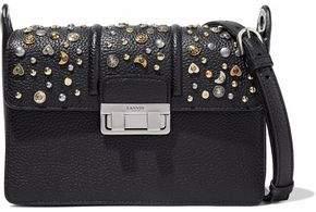 Lanvin Studded Pebbled Leather Shoulder Bag