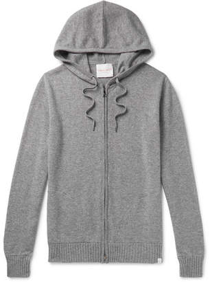 Derek Rose Finley Melange Cashmere Zip-Up Hoodie - Men - Gray