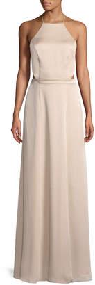 Fame & Partners Ada Halter-Neck Gown