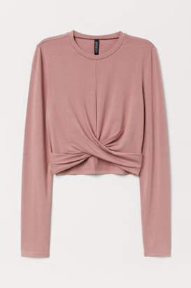 H&M Short Jersey Top - Pink