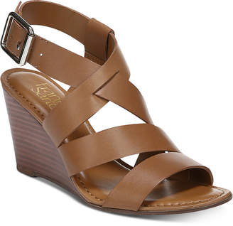 f2128a3f6a8 Franco Sarto Brown Wedge Women s Sandals - ShopStyle