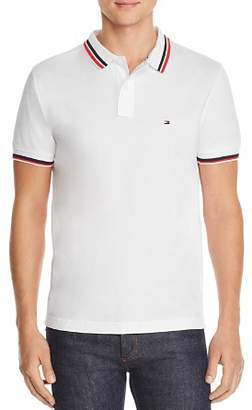 Tommy Hilfiger Stripe-Trimmed Polo Shirt