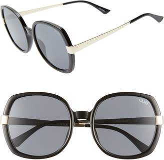 Quay Gold Dust 55mm Square Sunglasses