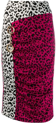 Class Roberto Cavalli leopard print pencil skirt