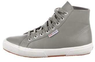 Superga Leather High-Top Sneakers
