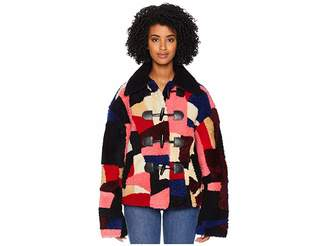 McQ Soho Faux Shearling Patchwork Jacket