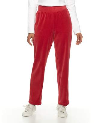 Croft & Barrow Women's Pull-On Velour Pant