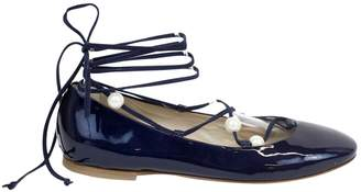 AGL Navy Patent leather Flats