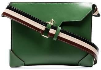 Atelier Manu green Bold leather cross body bag