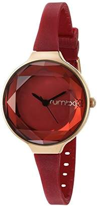 RumbaTime Women's 22711 Orchard Gem Mini Rose Gold 30mm Red Watch