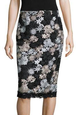 Nanette Lepore Lucky Lace Pencil Skirt $298 thestylecure.com