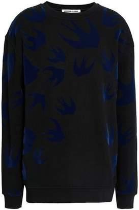 McQ Flocked French Cotton-blend Terry Sweatshirt