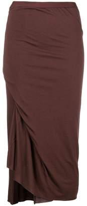 Rick Owens Lilies draped side slit pencil skirt