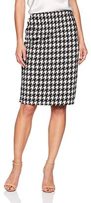 Star Vixen Women's Petite Below-Knee Pencil Skirt with Back Slit