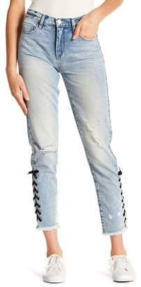 Blank NYC BLANKNYC Denim High Rise Laced Ankle Distressed Skinny Jeans