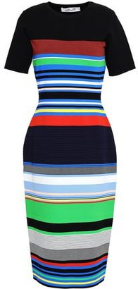 Diane von Furstenberg Striped Stretch-Knit Dress