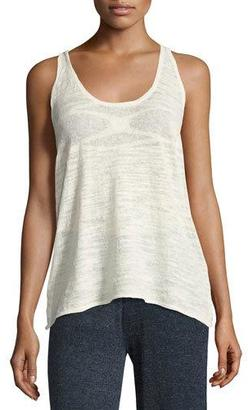 Minnie Rose La Playa Racerback Tank, White $105 thestylecure.com