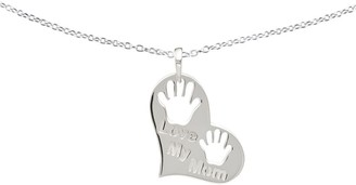 Sterling Love My Mom Heart Pendant w/Chain by Silver Style