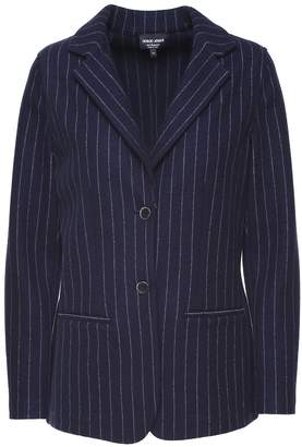 Giorgio Armani Single-breasted Pinstripe Cashmere-wool Blazer