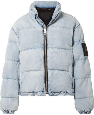 Alexander Wang Appliquéd Quilted Denim Jacket - Light blue
