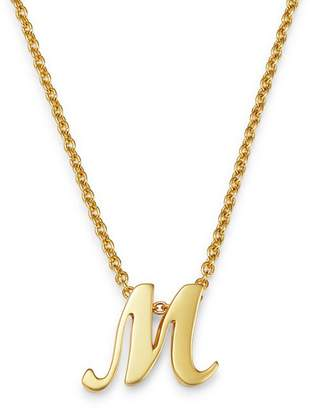 """Roberto Coin 18K Yellow Gold Cursive Initial Necklace, 16"""""""