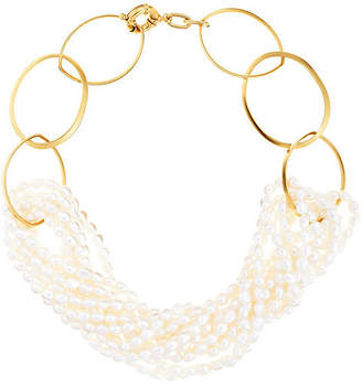 Catherine Canino Pearl Multi Strand Necklace