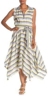 Max Studio Striped Collared Maxi Dress