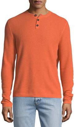 Neiman Marcus Cashmere-Cotton Henley Sweater
