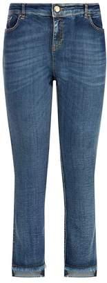 Marina Rinaldi Slim Raw Hem Jeans