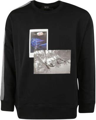 N°21 N.21 Side Stripes Printed Sweatshirt