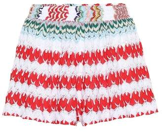 Missoni Mare Crochet-knit shorts