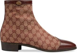 Gucci Original GG canvas boot