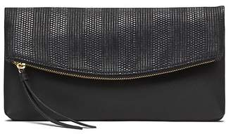 Banana Republic Grasscloth Foldover Clutch