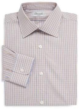 Charvet Regular-Fit Plaid Cotton Dress Shirt