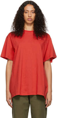 Off-White Off White SSENSE Exclusive Red Unfinished Backbone T-Shirt