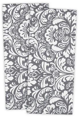 Design Import Damask Dishtowel, Set of 2
