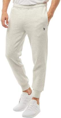 U.S. Polo Assn. Mens Stanford Joggers Light Grey Marl