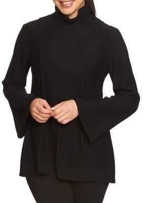 Chaus Cowlneck Pointelle Sweater