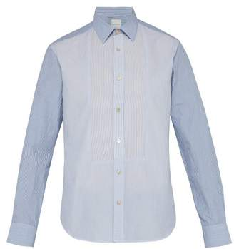 Paul Smith Multi Stripe Cotton Bib Shirt - Mens - Blue Multi