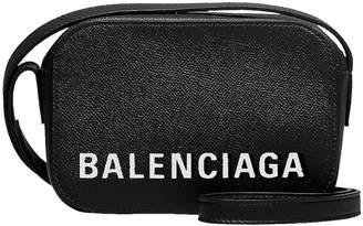 Balenciaga XS Ville Camera Bag in Black & White | FWRD