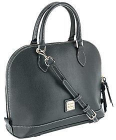 As Is Dooney & Bourke Saffiano Leather Zip Zip Satchel $138 thestylecure.com