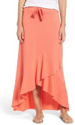 Caslon High/Low Cotton Blend Utility Skirt (Regular & Petite)